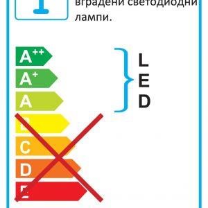 LED ЛУНА ЗА ВГРАЖДАНЕ АКРИЛ - DOWNLIGHT 71100