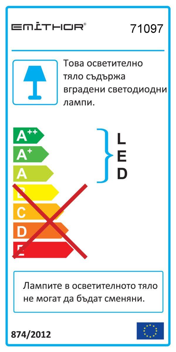 LED ЛУНА ЗА ВГРАЖДАНЕ АКРИЛ - DOWNLIGHT 71097